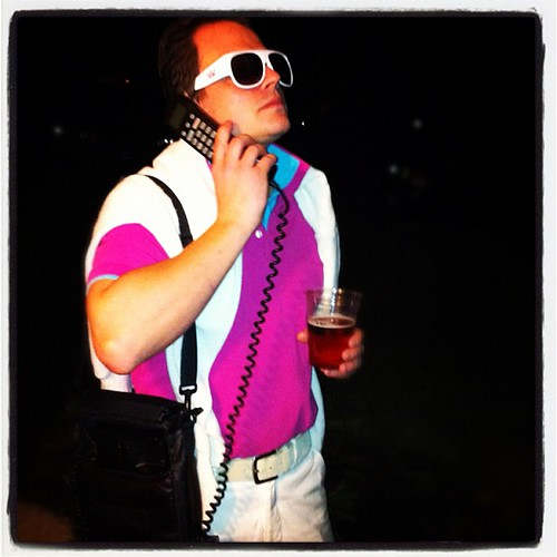 I Went As A Preppy Collar Popping Car Phone Bag Having