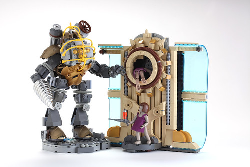 Cute Gravity Falls Wallpaper Lego Big Daddy Little Sisters And Portal By V Amp A Steamworks