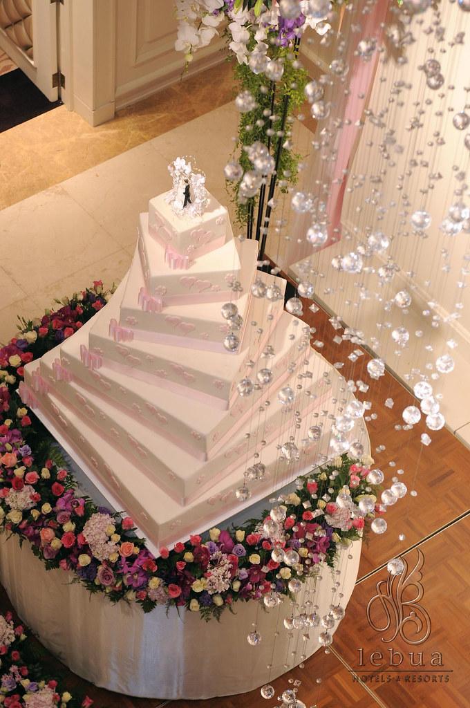 Wedding cake 7 tier  lebua Hotels  Resorts Bangkok