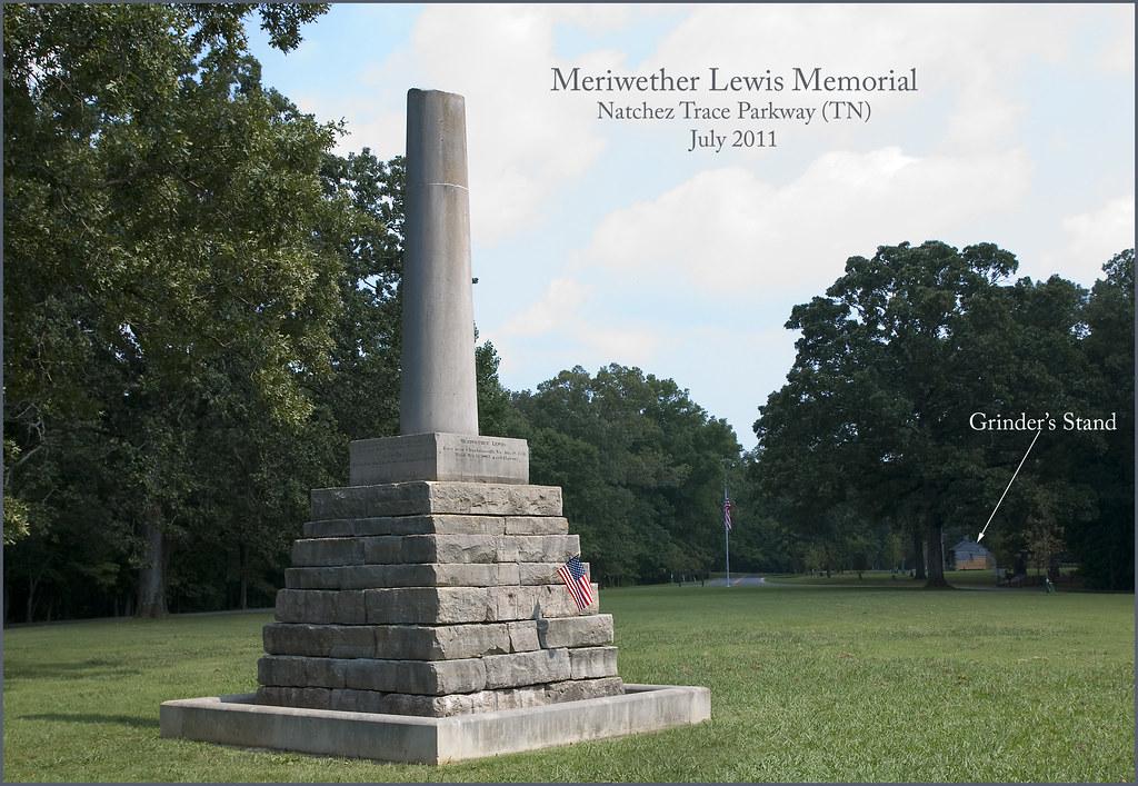 Meriwether Lewis Memorial  Natchez Trace Parkway TN Ju