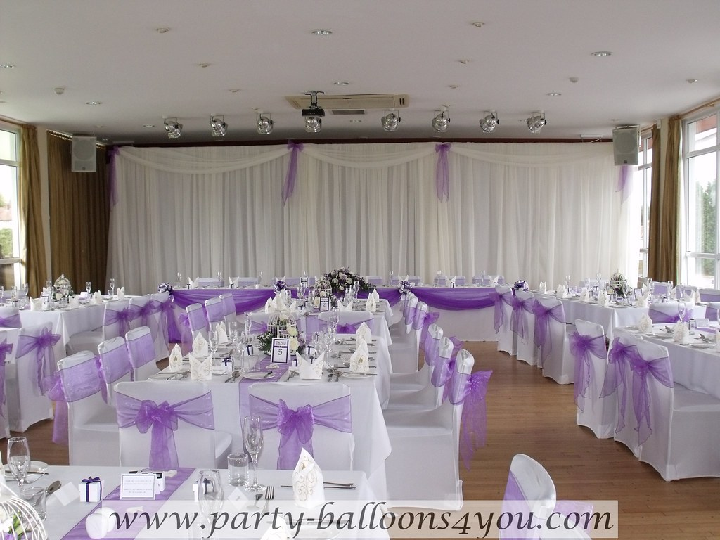purple chair sashes for weddings folding deck white cover with a organza sash bow cadbury