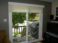 Roller Shade on a patio door | There when you need it and ...