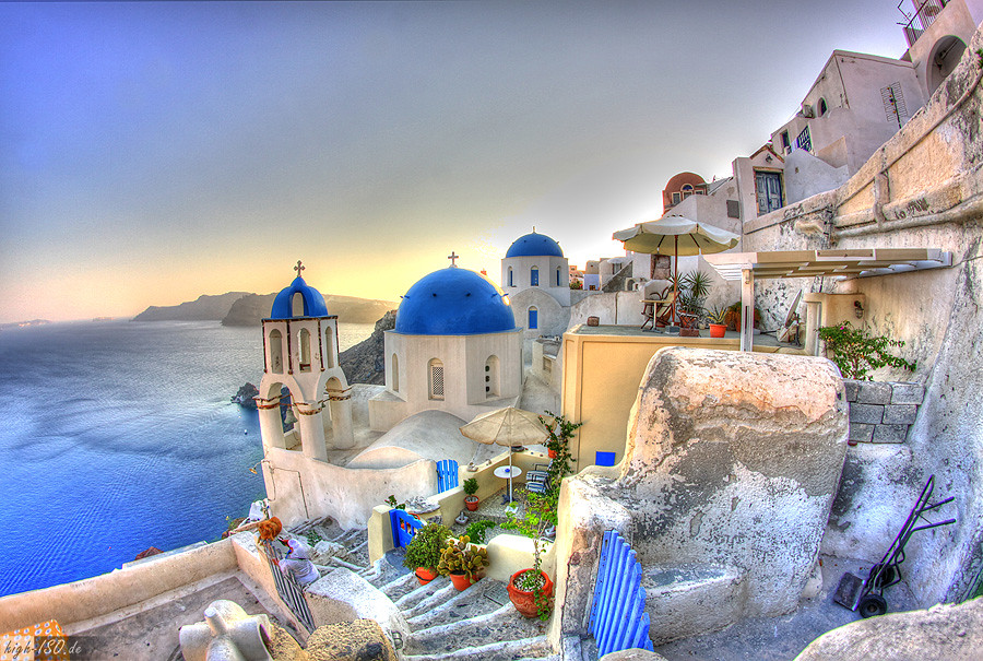 Island 3d Wallpaper Oia In Hdr Santorini One Of The Most Beautiful Cities