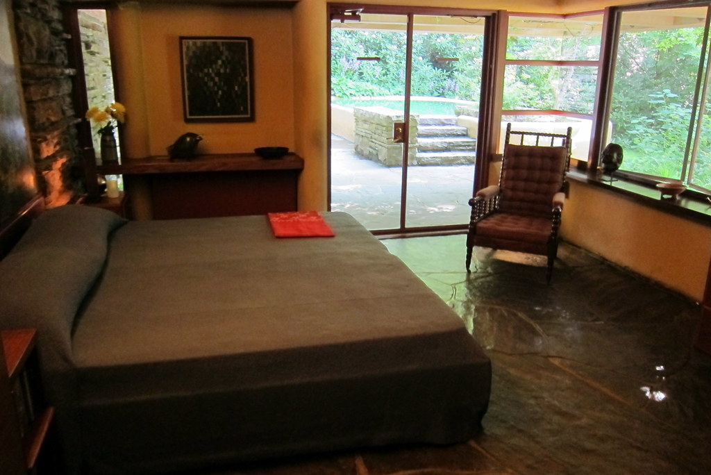 PA  Mill Run Fallingwater  Guest House bedroom  The