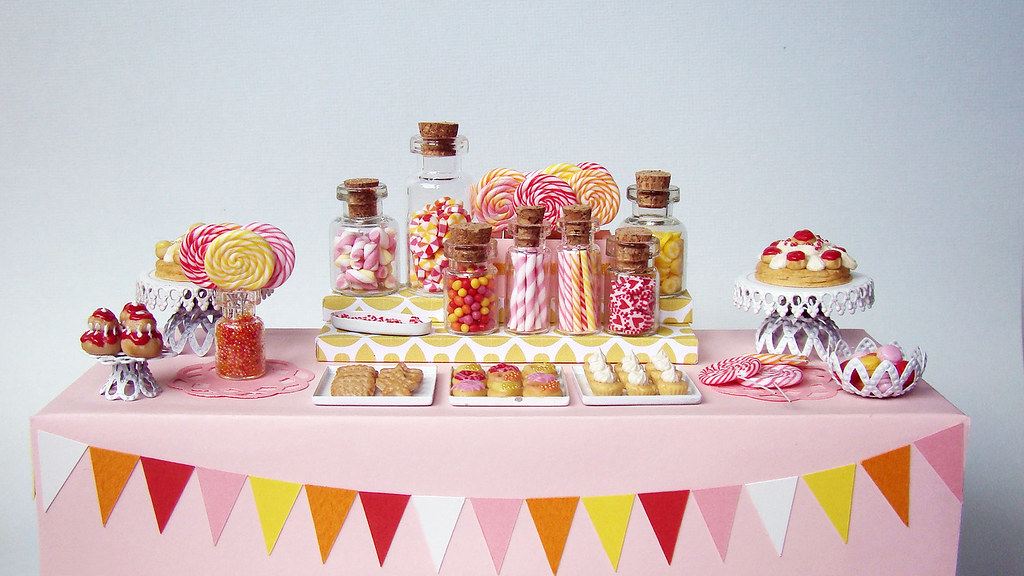 3d Wallpaper With White Background Miniature Candy Dessert Table Taaadaaaaa This Piece