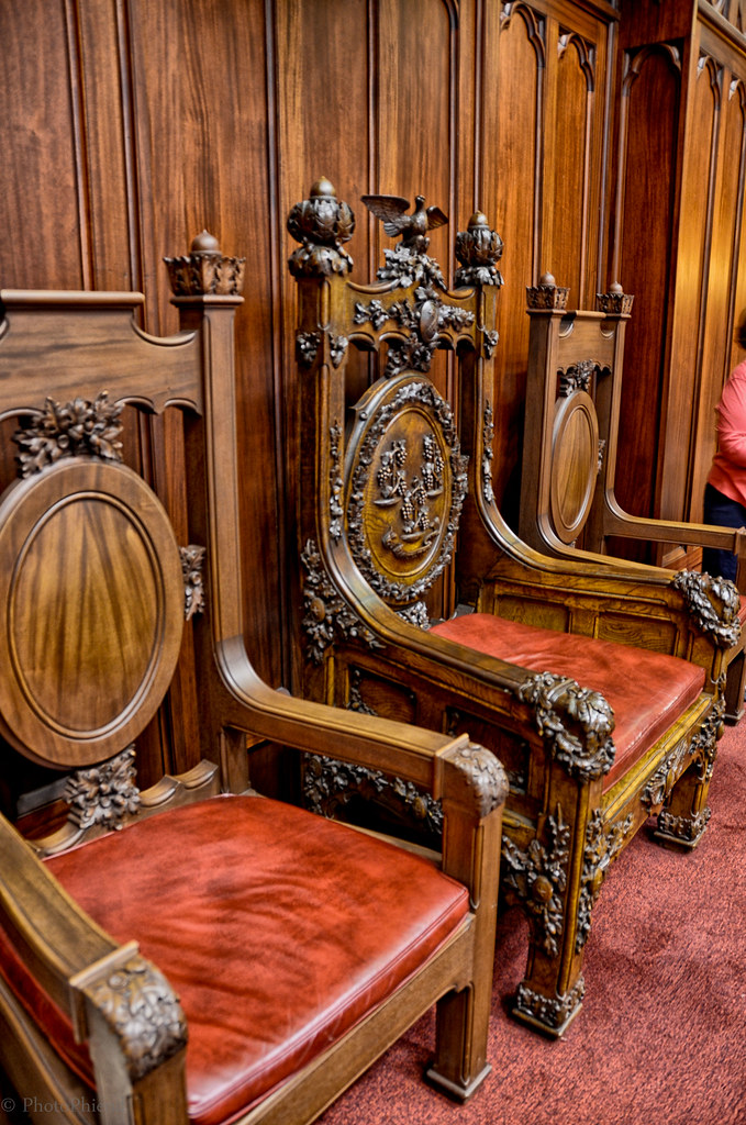 Charter Oak Chair in the Connecticut Senate Chamber State