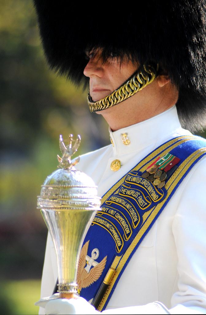 In Full Dress Uniform U S Navy Band Ceremonial Unit Drum