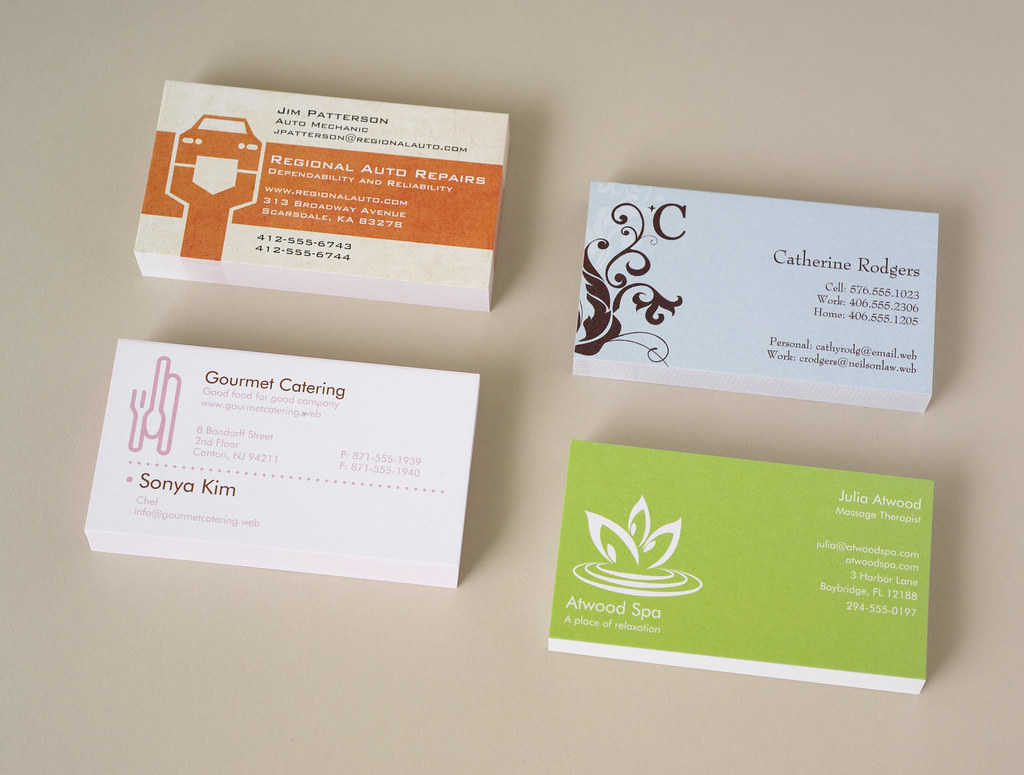 Vistaprint Business Cards Four Stacks See More At Www