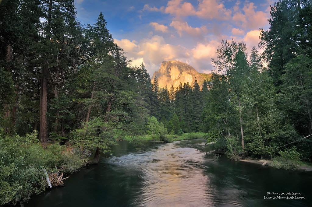 Half Dome Sunset on the Merced River  Half Dome and the clo  Flickr