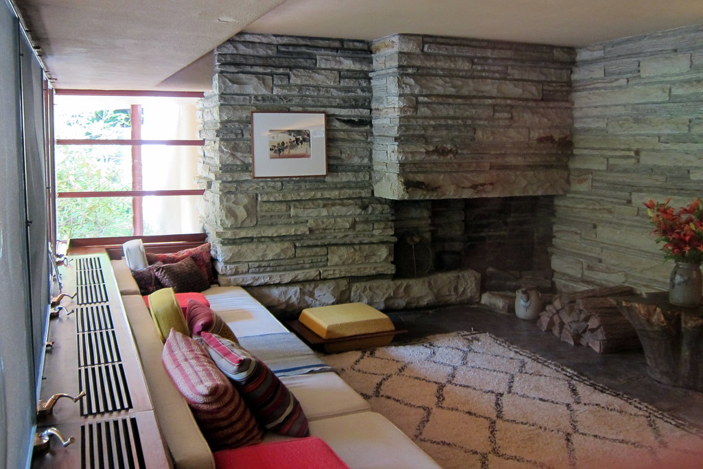 living room space images of paint colors for pa - mill run: fallingwater guest house ...
