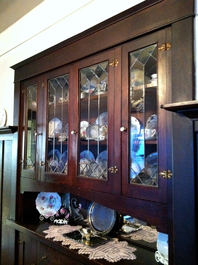 Built In China Cabinet In Dining Room AFTER With Dishes Flickr