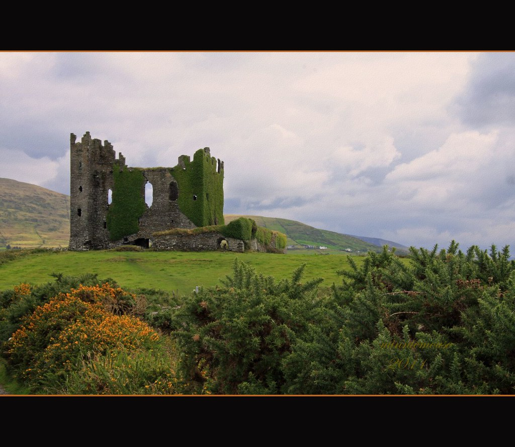 Ballycarberry Castle Ring of Kerry Ireland  We saw much