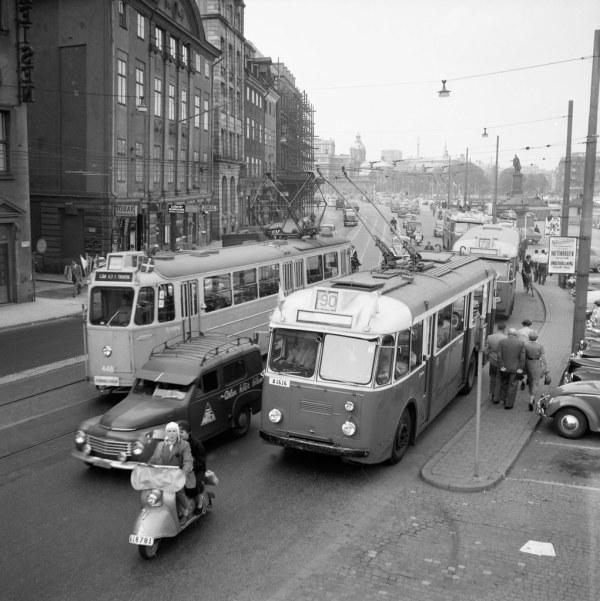 Traffic In Stockholm 1955 Trafikbilder