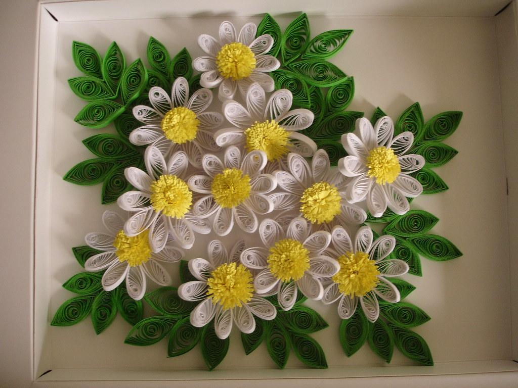 Quilled Flower Arrengmant Ruvini De Silva Sri Lanka