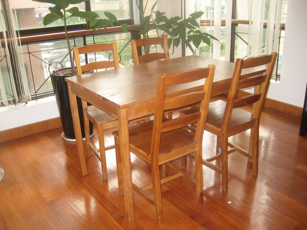 SOLD  IKEA  JOKKMOKK table and 4 chairs  300 rmb  paid