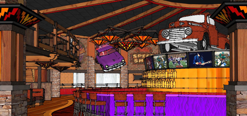 Interior Restaurant Sketch  Conceptual Restaurant Design