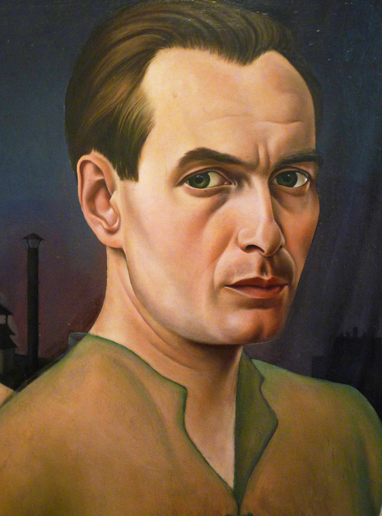 Christian Schad SelfPortrait with detail of artist  Flickr