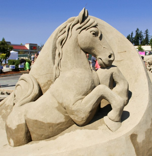 Sand Sculpture Horse Power David Billings And Fred Dob
