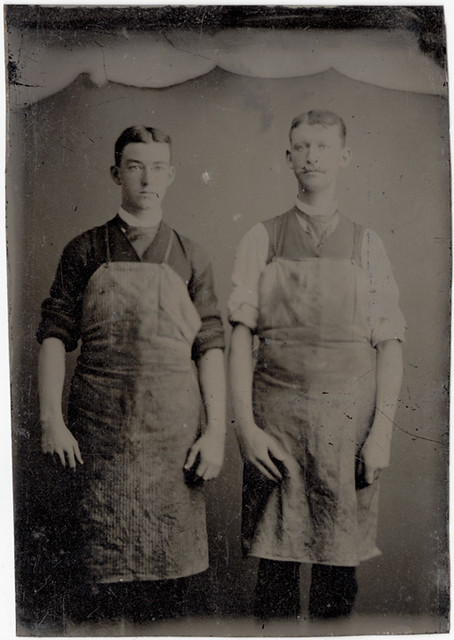 Two Workmen in Aprons  Occupational Tintype  Flickr