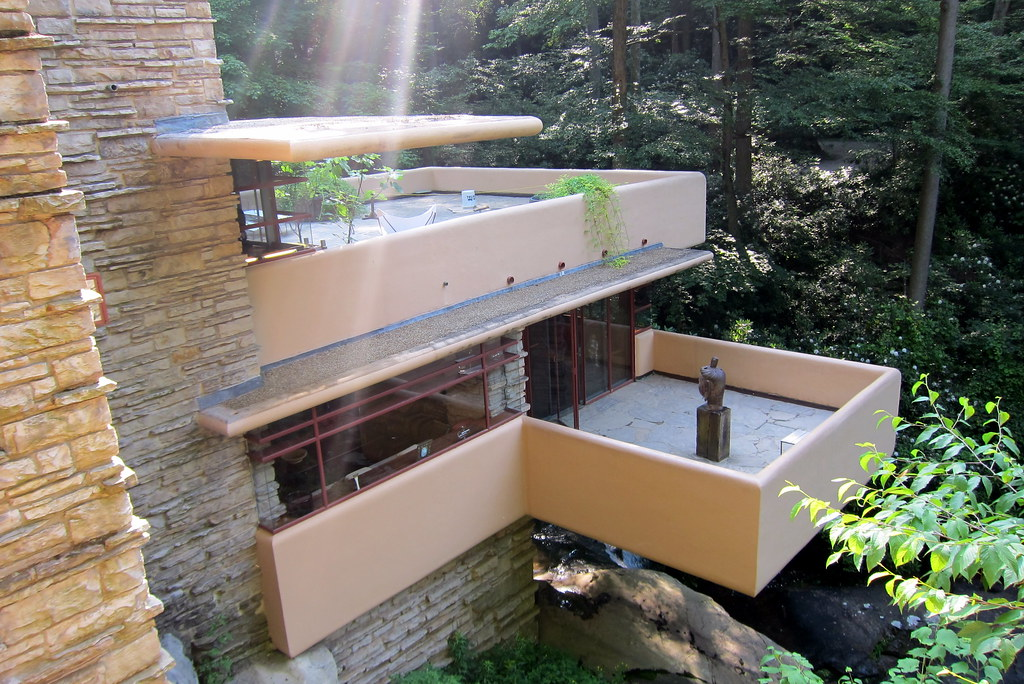 PA  Mill Run Fallingwater  The cantilevered terraces