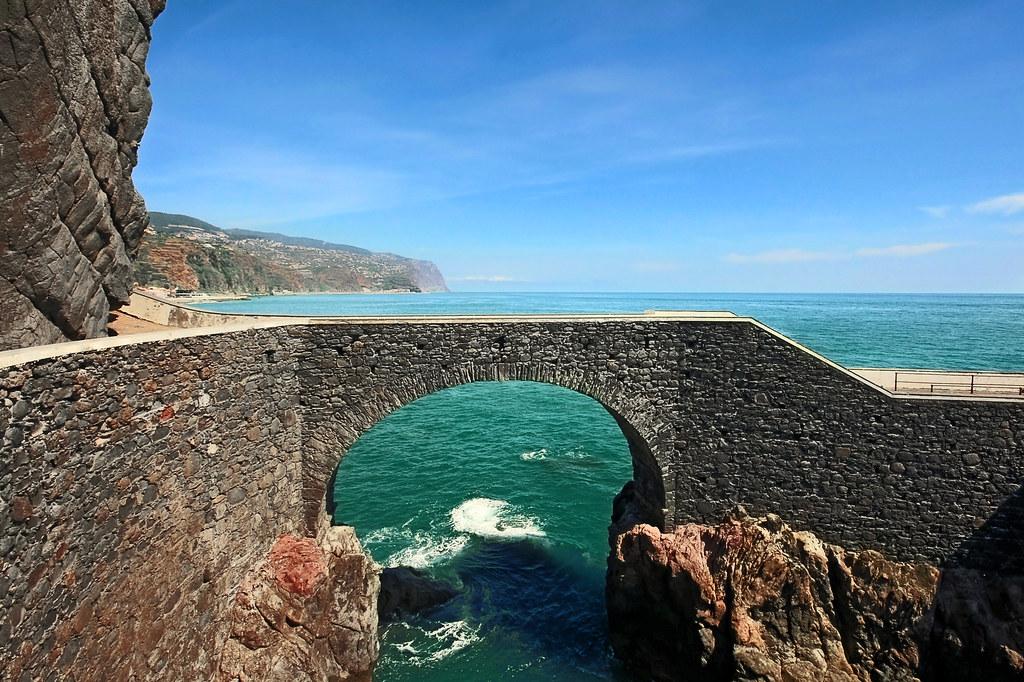 Cais da Ponta do Sol Madeira  Old stone bridge that