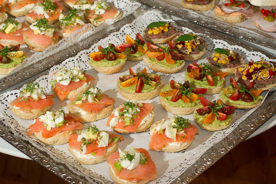Finger Food Wedding Reception