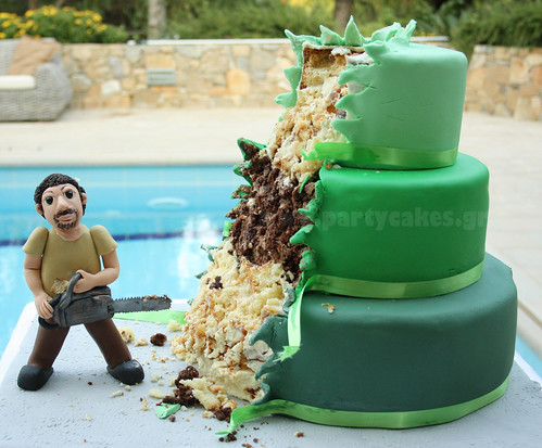 Chainsaw cake  For my husbands birthday not my idea Im a  Flickr