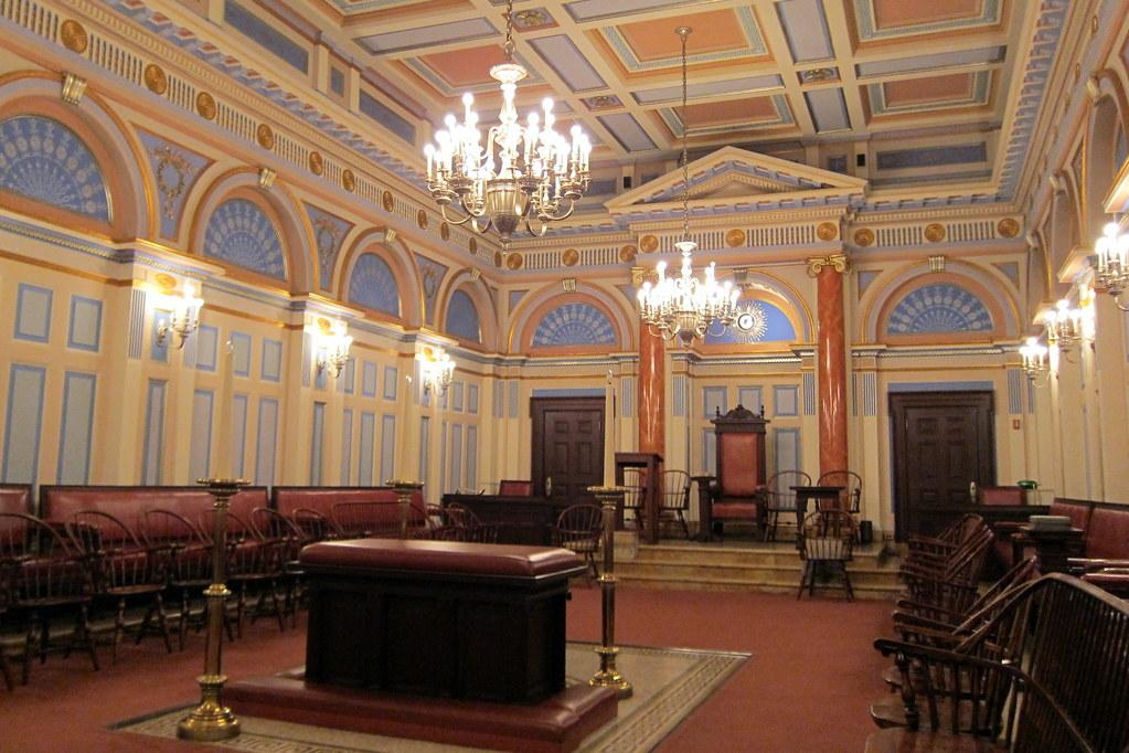 NYC Masonic Hall  Colonial Room  The Masonic Hall of