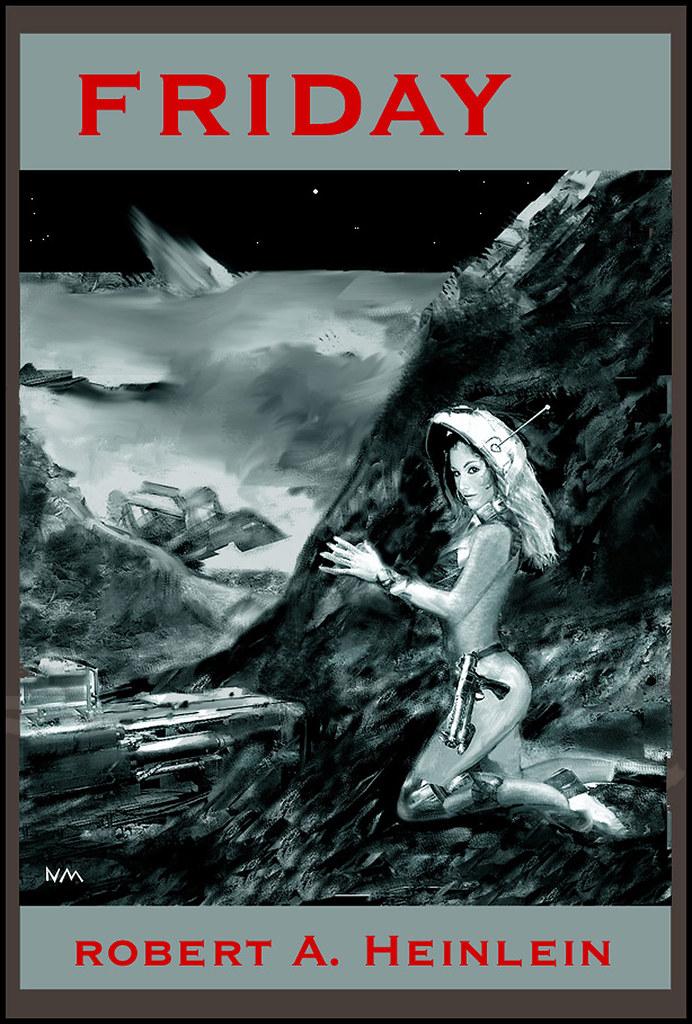 FRIDAY RA Heinlein paperback sf novel cover for TV pr  Flickr