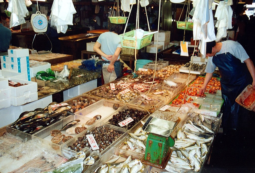 Tokyo Tsukiji fish market  Tokyo Tsukiji fish market