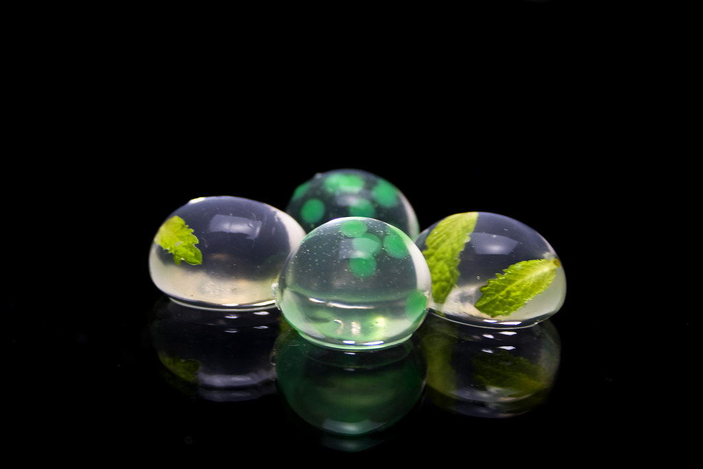 Mojito and mint spheres  Deconstruct and recreate the