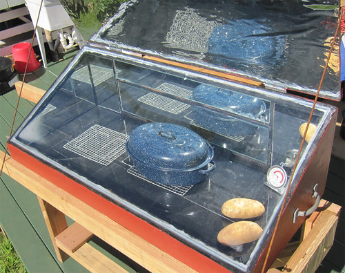 Solar Oven  Thanksgiving Dinner  We were gifted with a