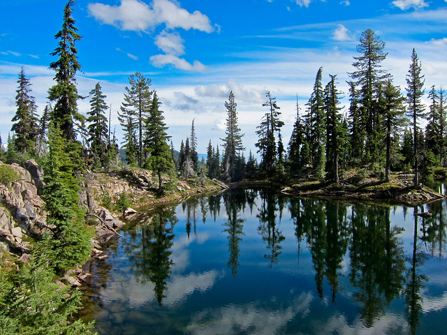Gravity Falls Landscapes Wallpaper Unnamed Lake Snow Lakes Trail Sky Lakes Wilderness Ore