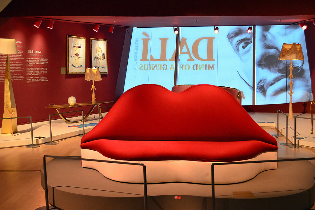 Mae West Lips Sofa  At the Dalis Exhibition in the
