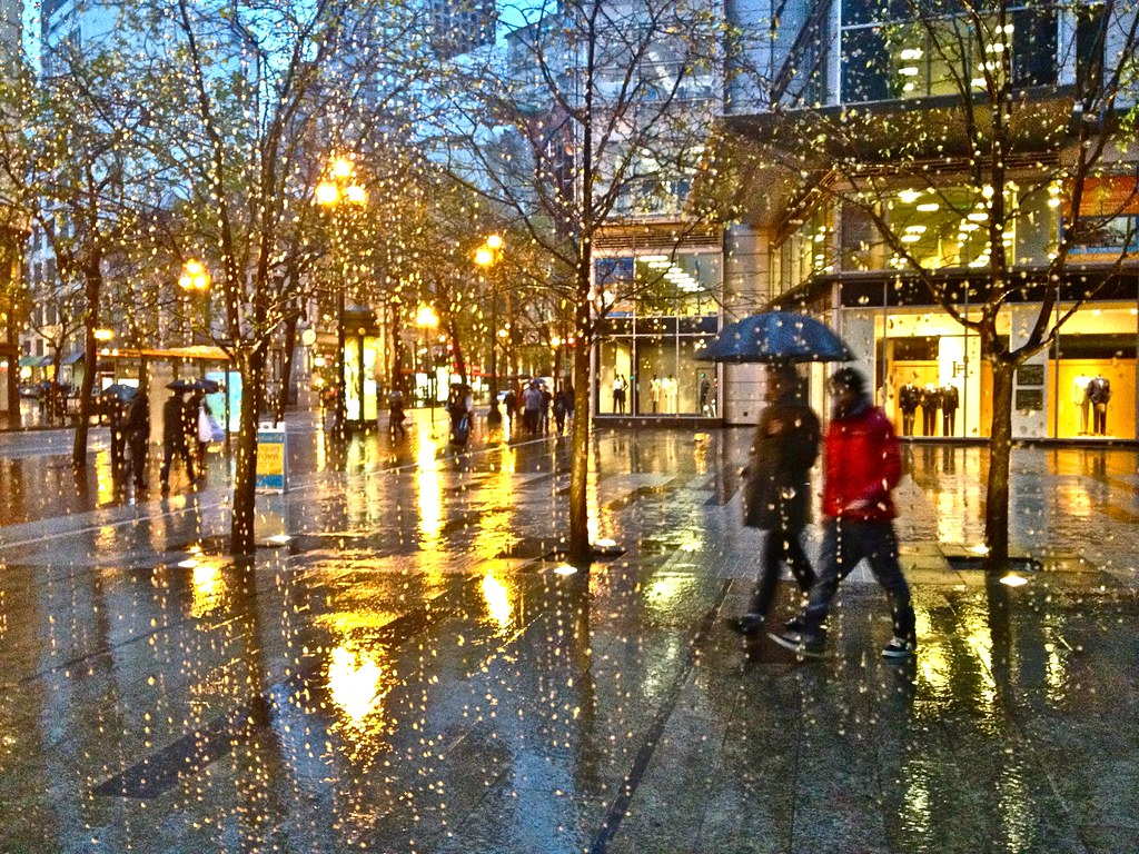 Free 3d Fall Wallpaper Raining Night On Market St San Francisco Lynn Friedman