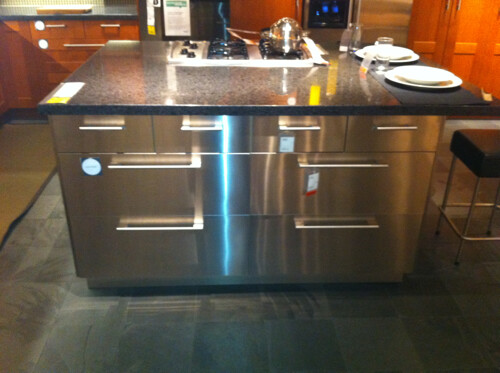 ikea kitchen island mosaic backsplash stainless steel | this is a great ...