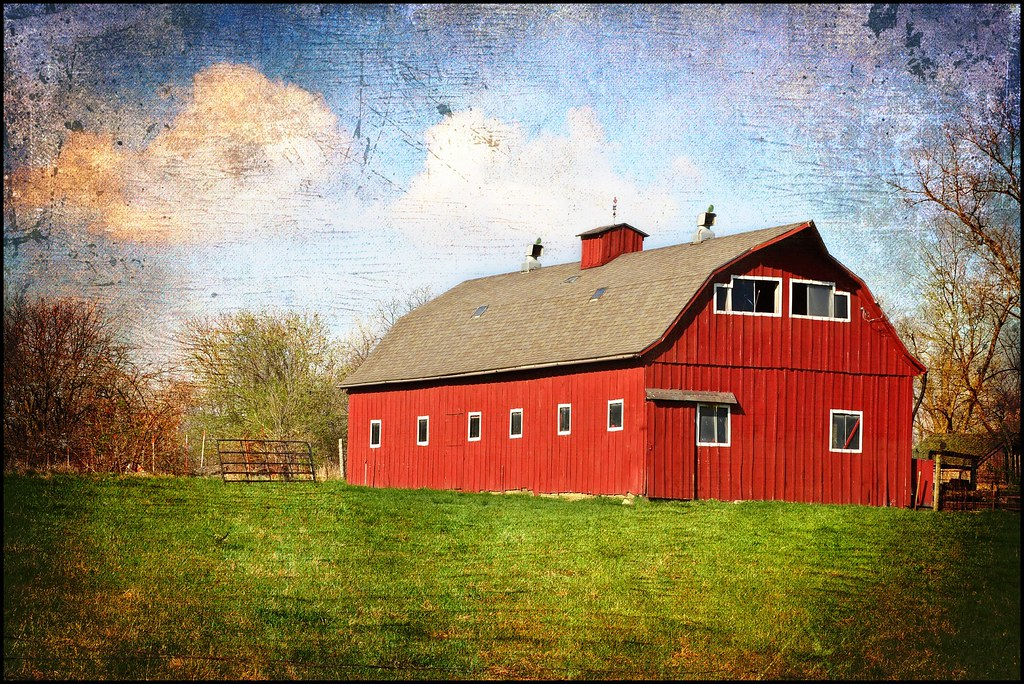 Red Barn Drama  Somewhere in Polk County Almost looks