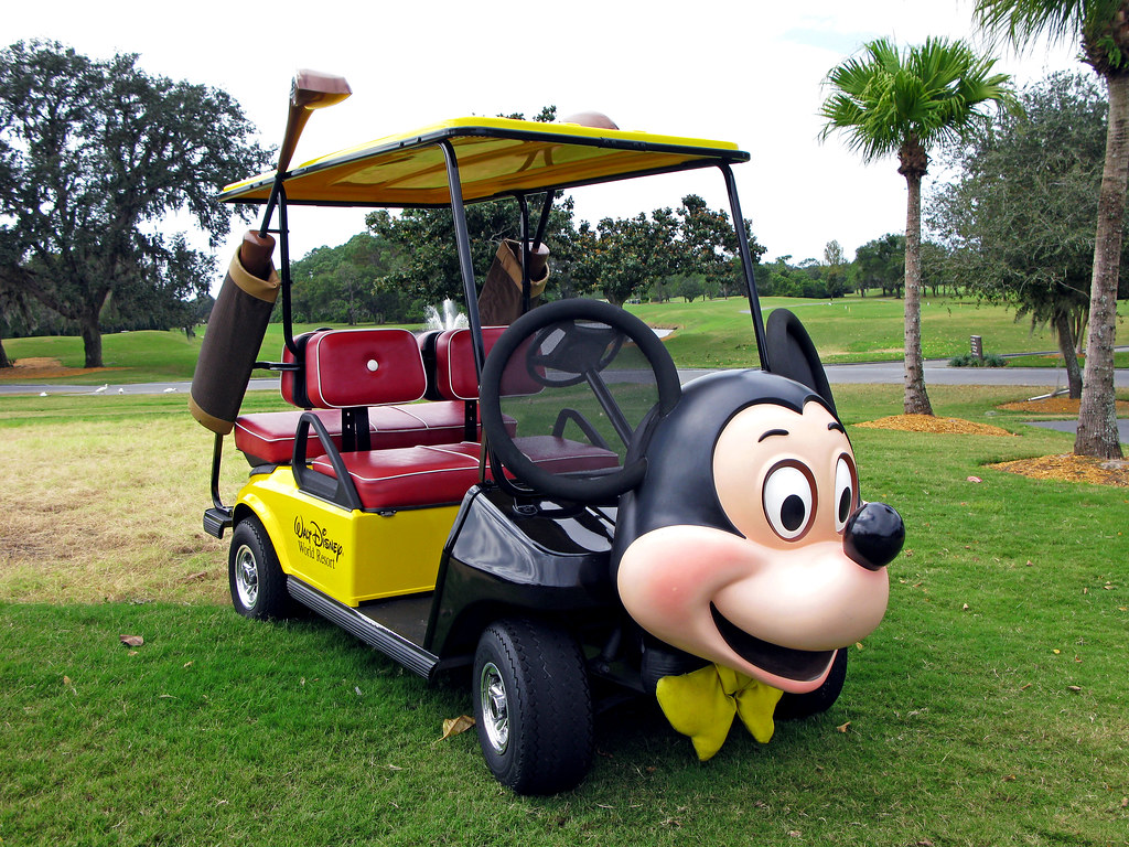 Mickey Mouse Golf Cart IMG2568 Mickey Mouse Themed Golf