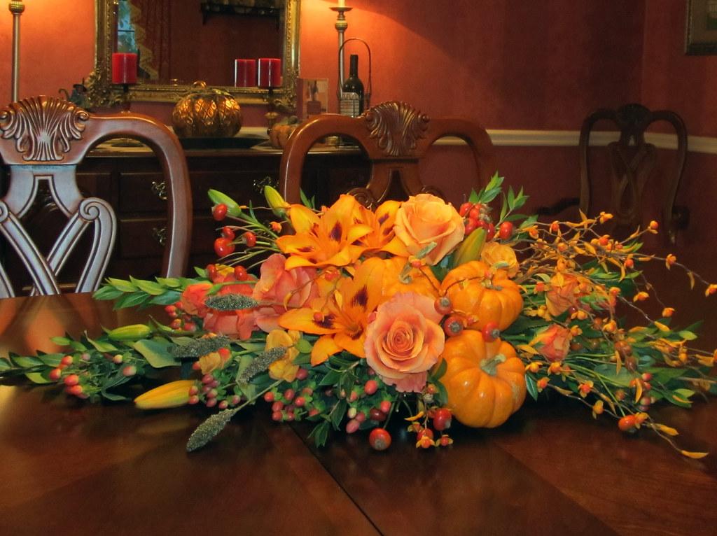 Thanksgiving Centerpiece  Farrells Florist in Drexel Hil