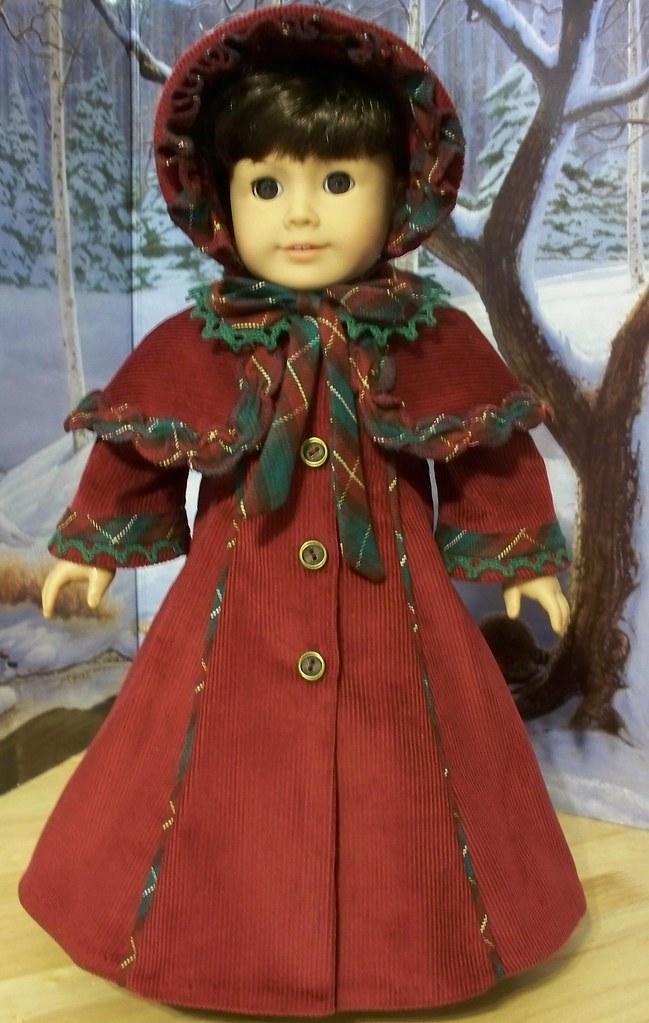 Victorian Christmas Caroler Made For American Girl Doll S