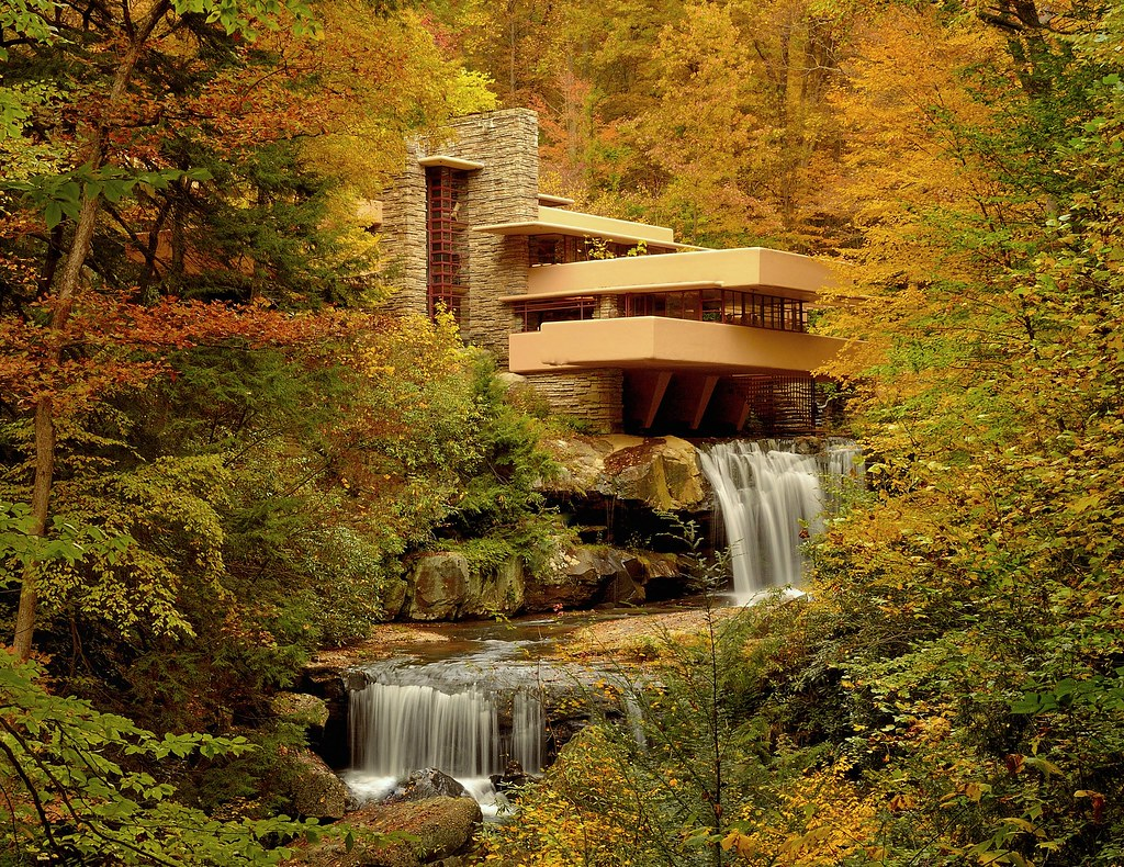 Frank Lloyd Wright Falling Water Wallpaper Fallingwater Western Pennsylvania Autumn Went On The