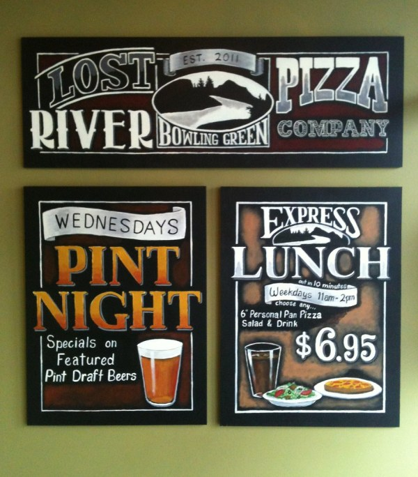 Lost River Pizza Chalkboard Menu Signs Artfx Design