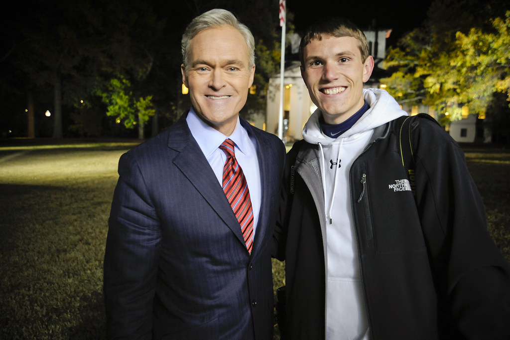 Students With CBS News Anchor Scott Pelley The Friday