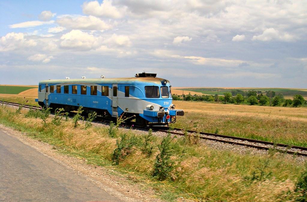 Very Short Train Traveling From Negru Voda To Medgidia