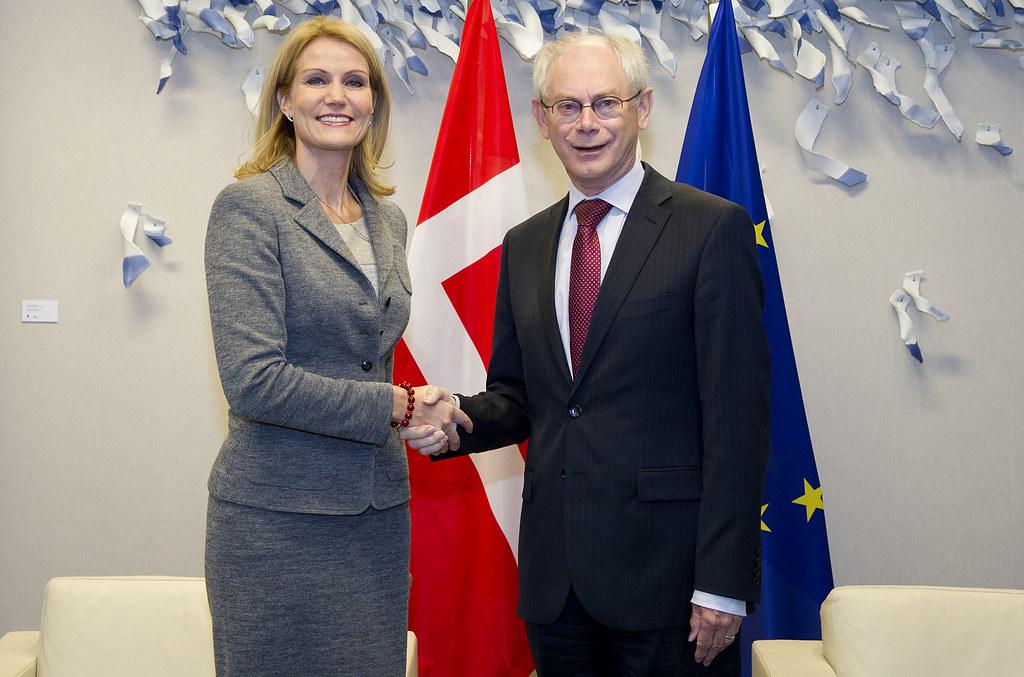 President Van Rompuy Welcomes Mrs Helle Thorning Schmidt