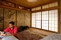 Japanese room: Washitsu | In this photo, that is me.. I am ...