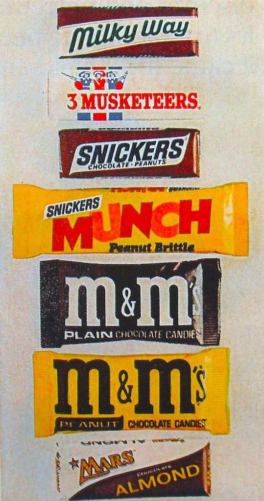 1972 M&M Vintage Candy Advertisement