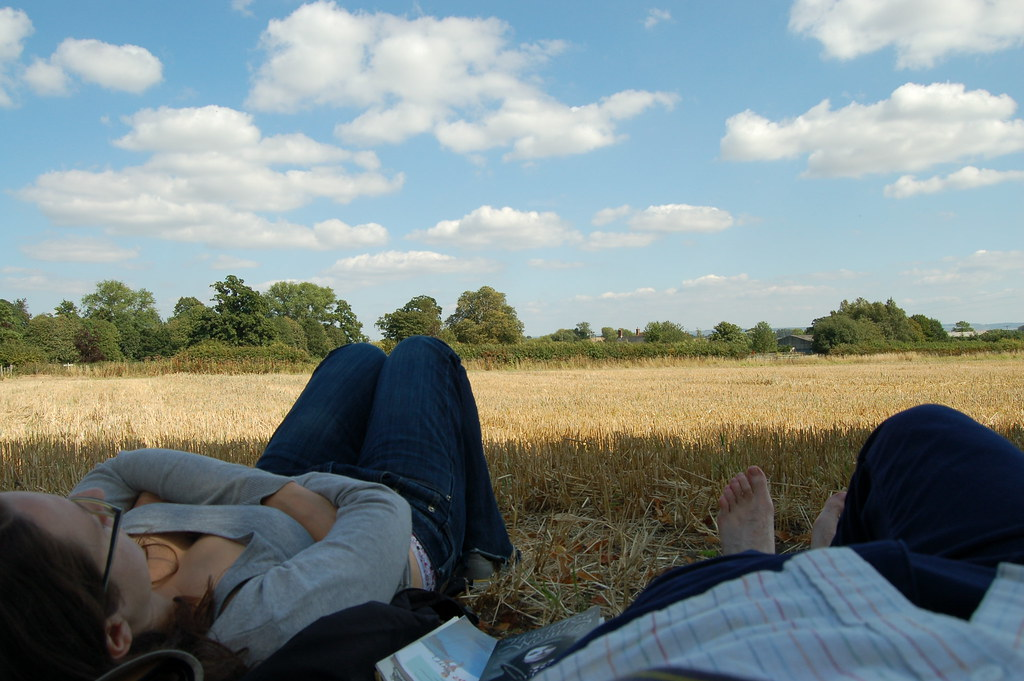 Cloud watching  Lazing in a field in Denton watching