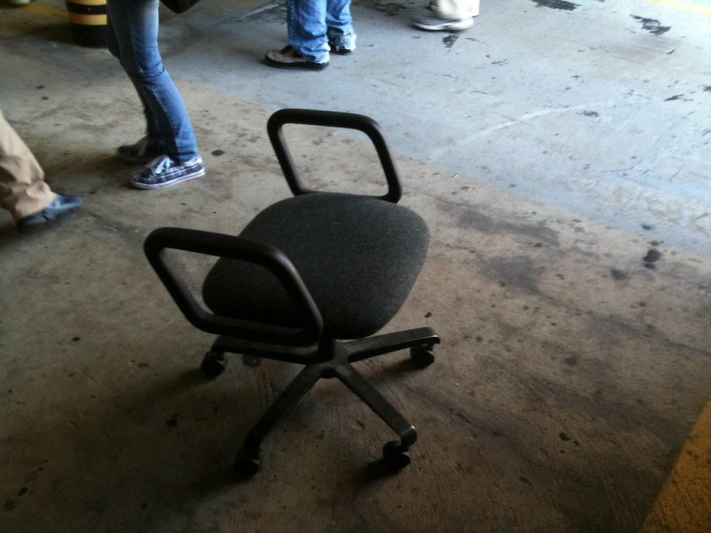 Lonely broken office chair in VAB  brownpau  Flickr