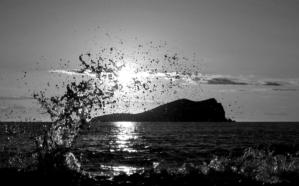Sunset Splash (black & White)  Ibiza Photo  Twitter